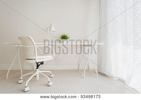 White Empty Desk