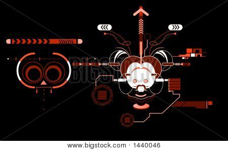 Abstract Mouse  Invert Orange