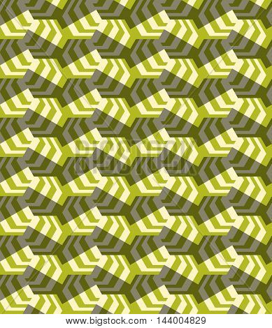 Retro Fold Striped Hexagons Turned