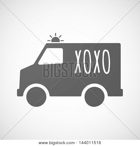 Isolated Ambulance Icon With    The Text Xoxo