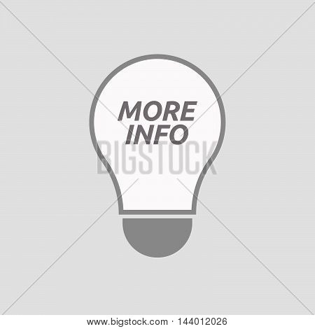 Isolated Line Art Light Bulb Icon With    The Text More Info