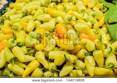 Background Of Yellow Pepper