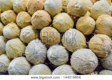 Pile Of Coconuts Background