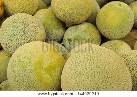 Melons In Market Background