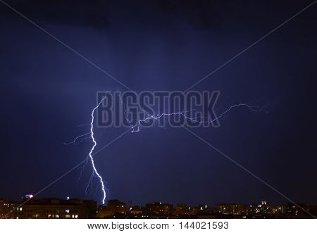 lightning, flash, rain, thunderstorm,night,beatiful,nature,sky, flash at night