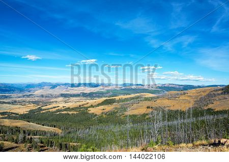 Rugged Landscape In Yellowstone