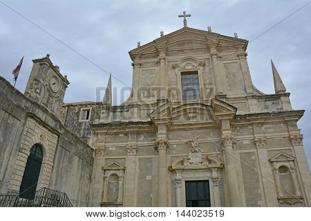 The historic St Ignatious of Loyola Church in Dubrovnik