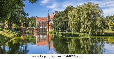 Panorama Of Burg Hulshoff Near Havixbeck