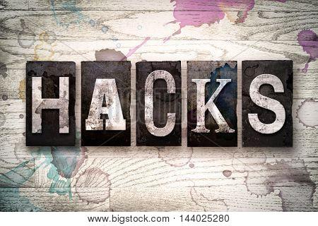 Hacks Concept Metal Letterpress Type
