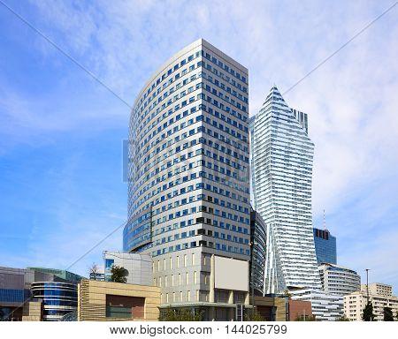 Golden Terraces And Zlota 44 Skyscraper In Warsaw