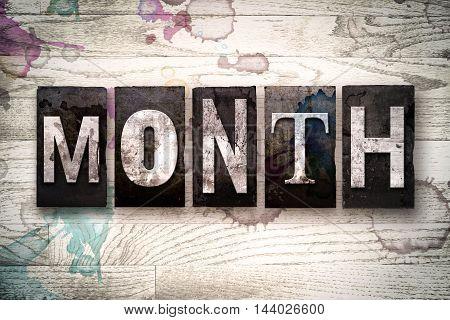 Month Concept Metal Letterpress Type