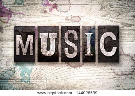 Music Concept Metal Letterpress Type