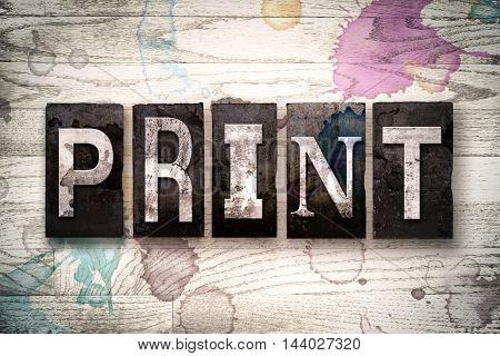 Print Concept Metal Letterpress Type
