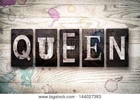 Queen Concept Metal Letterpress Type