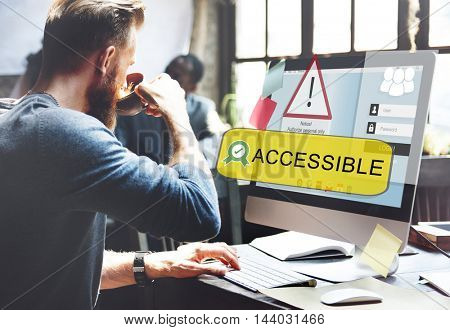 Access Allowed Entrust Password Secured Concept