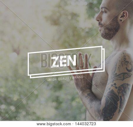 Zen Balance Health Live Life State Mindful Breath Concept