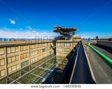 Lingotto Conference Centre And Helipad In Turin (hdr)