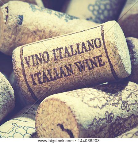 Wine corks close-up. Shallow DOF! Focus on