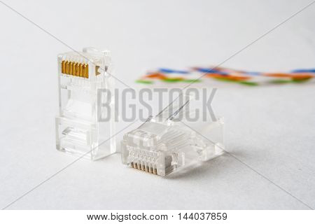 Plug To Connect The Internet. Plug Rj45.