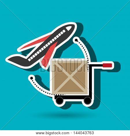 car hand box cargo air transport vector illustration eps 10