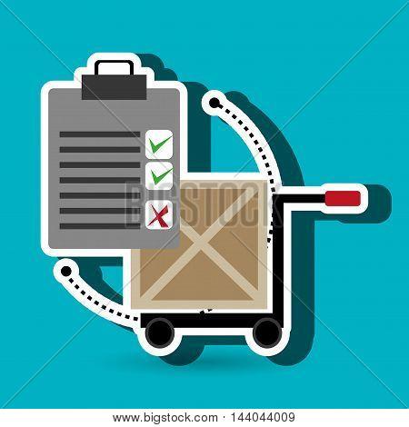 car hand box cargo vector illustration eps 10