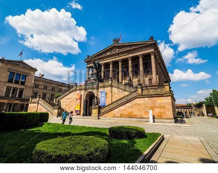 Alte National Galerie In Berlin (hdr)