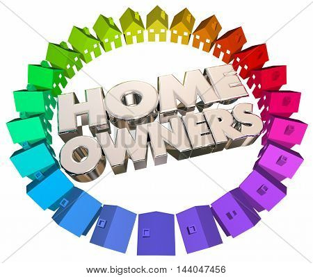 Home Owners Buyers Houses Association Neighborhood 3d Illustration