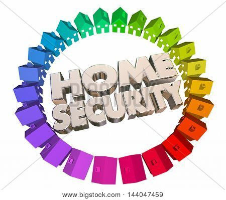 Home Security Safety Crime Prevention Houses 3d Animation