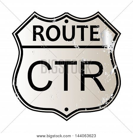Traffic sign over a white background and the legend CTR