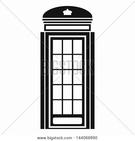 Phone booth icon in simple style isolated on white background. Call symbol