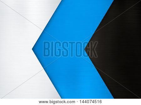 metal plate with arrow design background