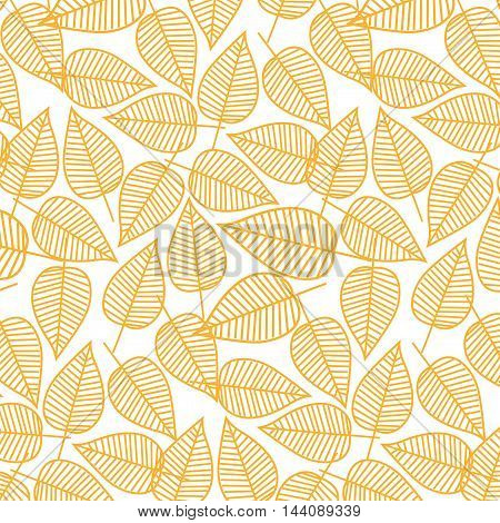Autumn pattern from leaves. Vector illustration. Seamless background. Stock vector