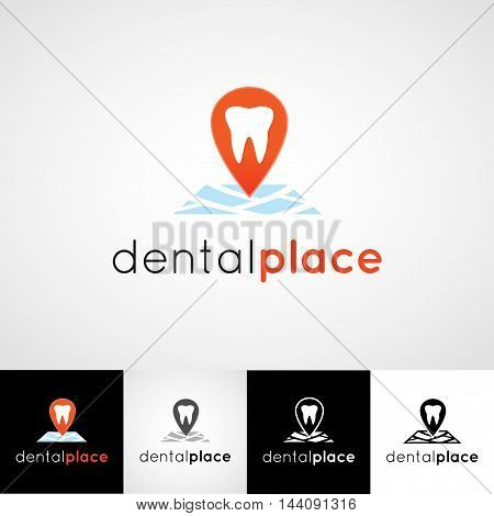 Creative dental logo design. Teethcare icon set. dentist clinic insignia, stomatologist practice sign, orthodontist illustration, teeth vector, oral hygienist concept for stationary, medical products or medicine poster image.