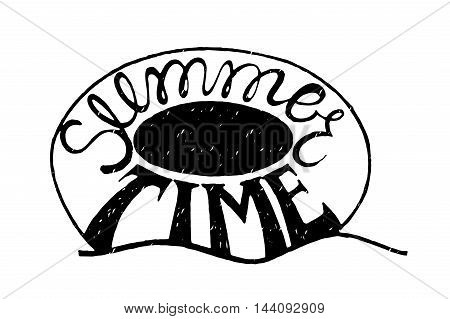 Inspirational vector typography.Hand drawn typography poster.Swimming circle. Summer time. Ring-buoy