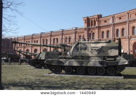 poster of Russia Saint Petersburg Museum of artillery Self-propelled howitzer