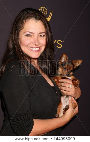 LOS ANGELES - AUG 24:  Devin DeVasquez, dog Prince at the Daytime TV Celebrates Emmy Season  at the Television Academy - Saban Media Center on August 24, 2016 in North Hollywood, CA