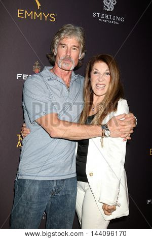 LOS ANGELES - AUG 24:  Ronn Moss, Wendy Riche at the Daytime TV Celebrates Emmy Season  at the Television Academy - Saban Media Center on August 24, 2016 in North Hollywood, CA