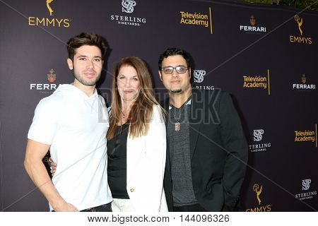 LOS ANGELES - AUG 24:  Kristos Andrews, Wendy Riche, Gregory J Martin at the Daytime TV Celebrates Emmy Season  at the Television Academy - Saban Media Center on August 24, 2016 in North Hollywood, CA