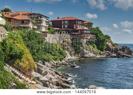 Panorama of old town of Sozopol, Burgas Region, Bulgaria
