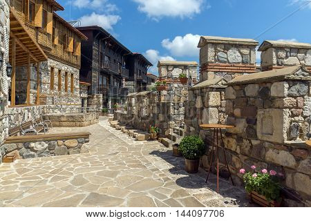 Ancient fortifications and old houses in Sozopol, Burgas Region, Bulgaria