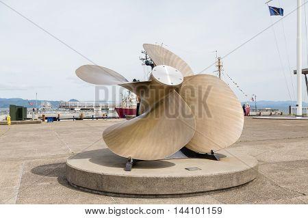 A Huge Propeller on Pier in Astoria