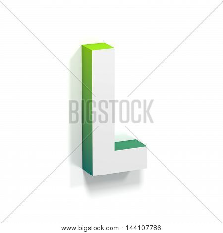 Green Gradient And Soft Shadow Letter L