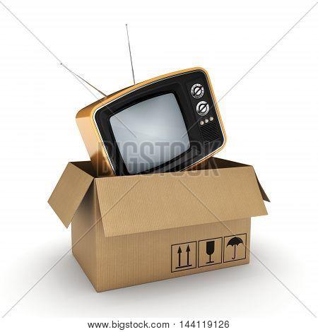 3D Rendering Old Tv