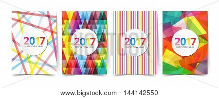 pattern template for design 2017 greeting newyear card
