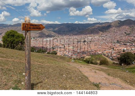 View Of The City Of Cusco From The Sitesaqsaywaman