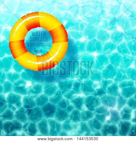 Water ripple background with rubber ring on water surface eps 10