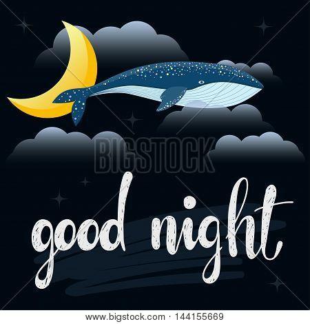 Good Night Card Template.