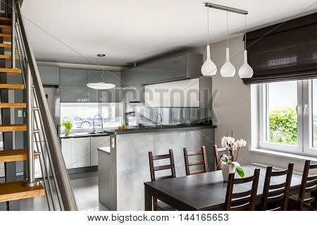 Open Space Design In Apartment