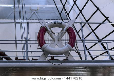 OSLO, NORWAY - JULY 1, 2016: This is fragment of the ship-museum