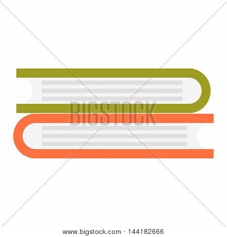 Big stack of books education literature school vector illustration. Books stack wisdom information and university books stack. Knowledge books stack learning collection, bookstore stack.
